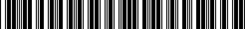 Barcode for T99B1-5CH0B